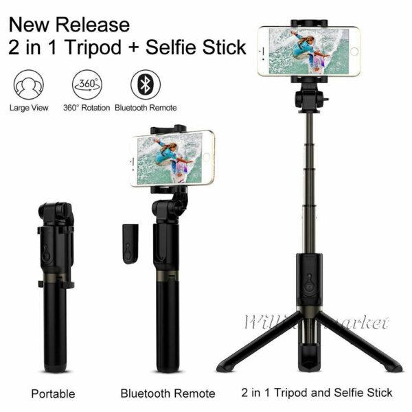 Selfie Trepied X-10s Bluetooth avec LED